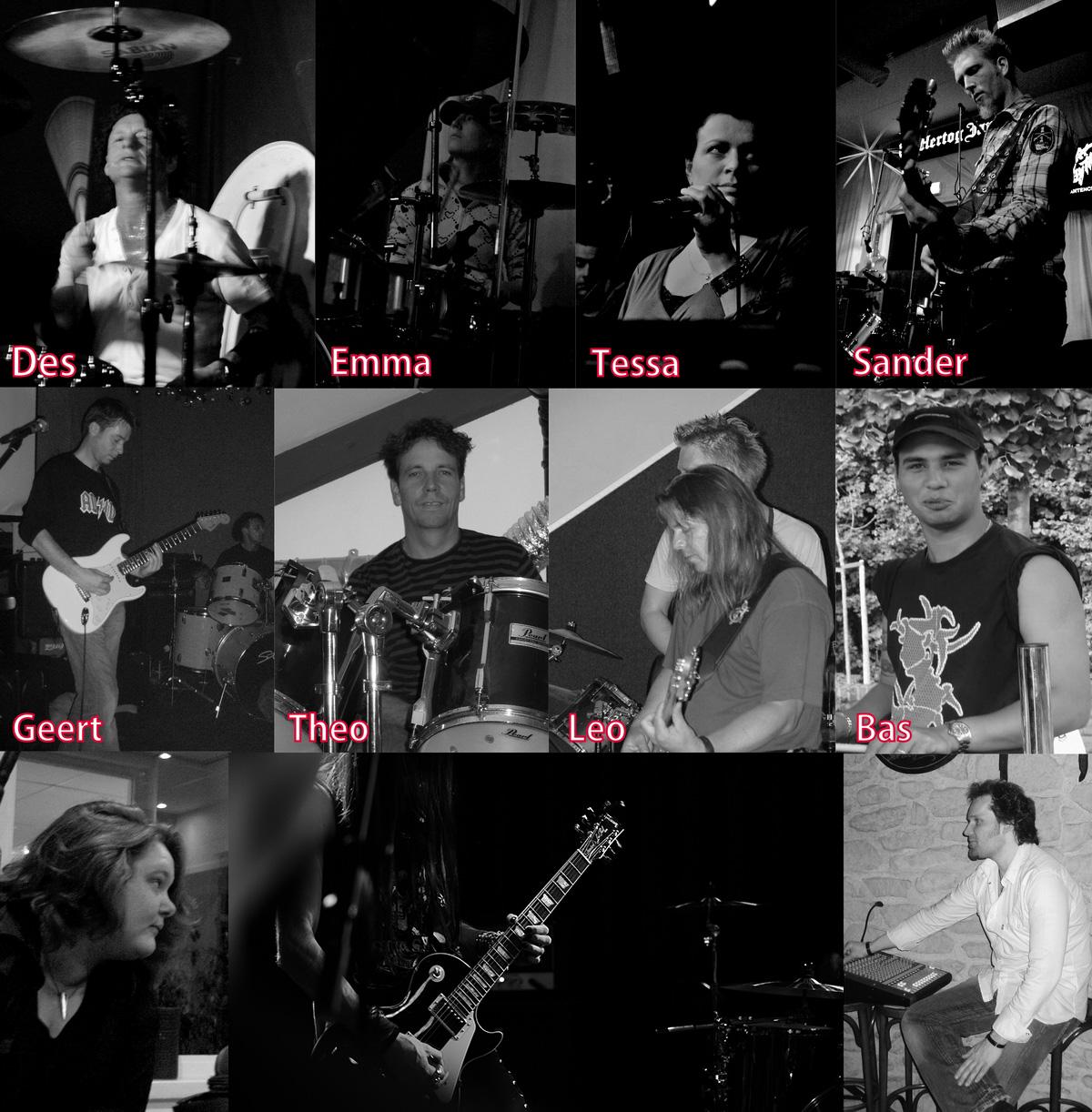 oude bandleden mugshot